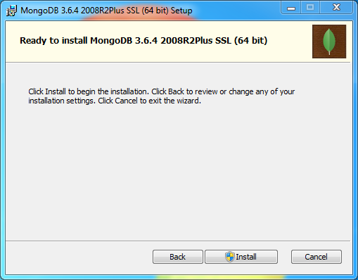 MongoDB Installation on Windows: install