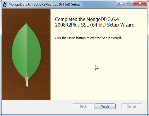MongoDB Installation on Windows: installed