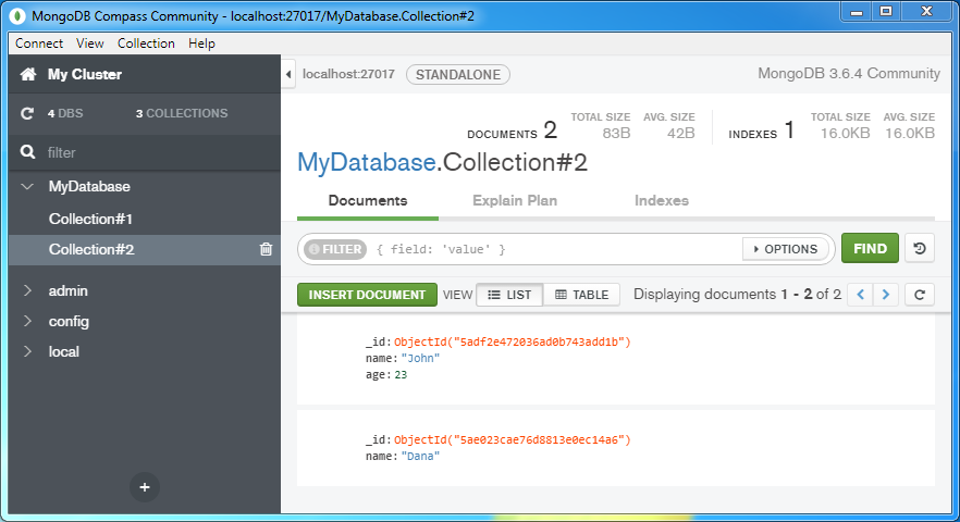 Delete (remove) a document from a MongoDB Collection: the collection