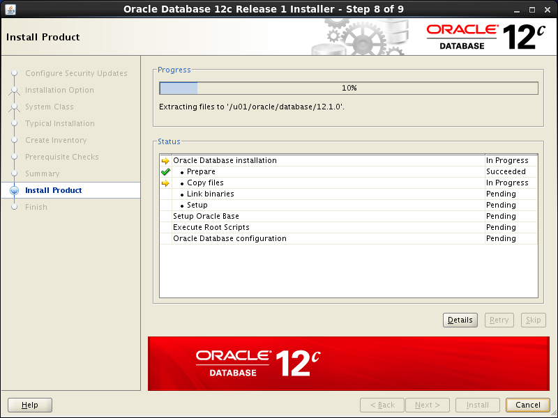Oracle database 12cR1 Installation on Linux 6 (RHEL6, CentOS6, OEL6): install product