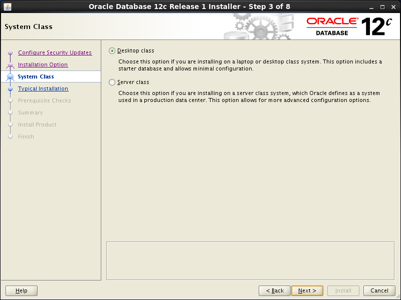 Oracle database 12cR1 Installation on Linux 7 (RHEL7, CentOS7, OEL7): system class