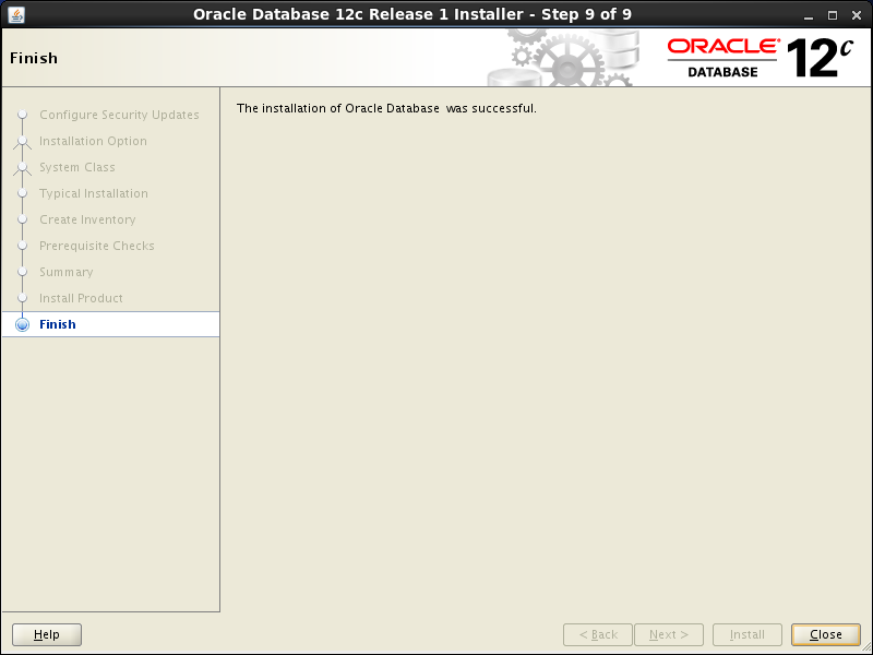 Oracle database 12cR1 Installation on Linux 7 (RHEL7, CentOS7, OEL7): close