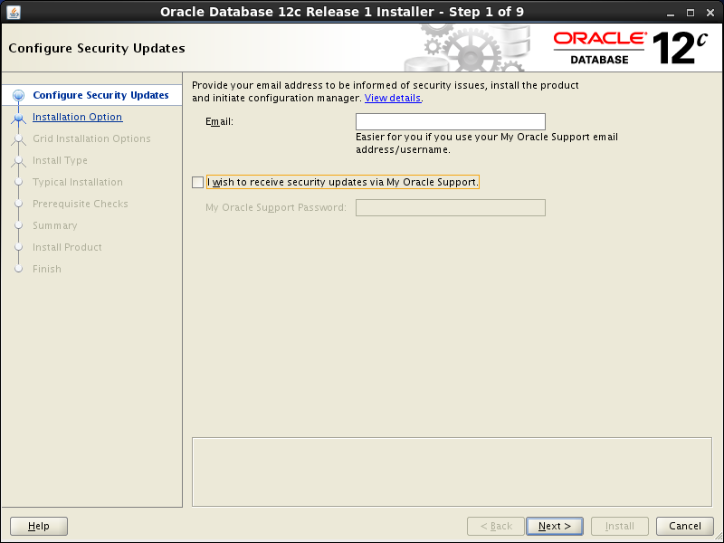 Oracle database 12cR1 Installation on Linux 7 (RHEL7, CentOS7, OEL7): security updates