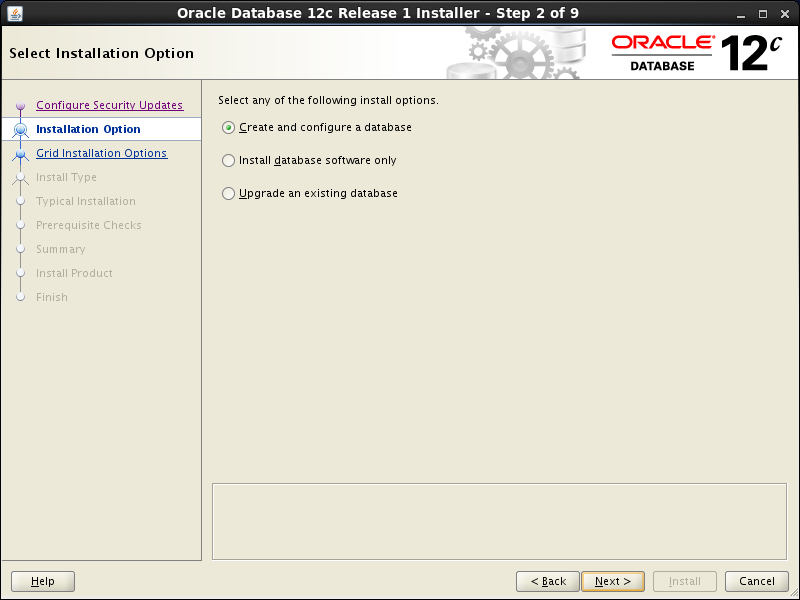 Oracle database 12cR1 Installation on Linux 7 (RHEL7, CentOS7, OEL7): installation options