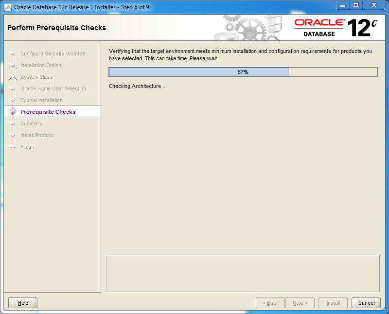 Oracle database 12cR1 EE Installation on Windows: prerequisites