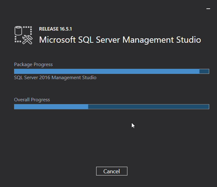 Uninstall Microsoft SQL Server Management Studio (SSMS): progress