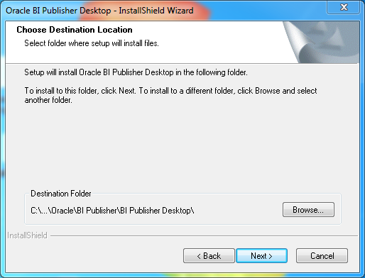 Install Oracle BI Publisher Desktop for Word (Microsoft Office) : location