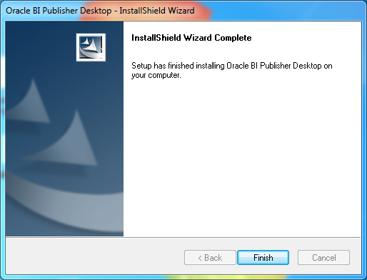Install Oracle BI Publisher Desktop for Word (Microsoft Office) : installed