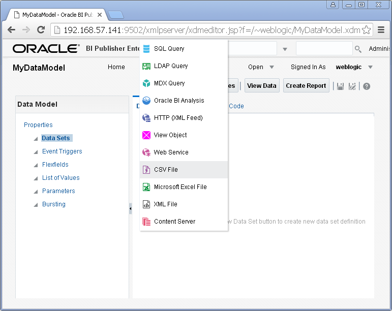 Create Oracle BI Analysis Data Set for Oracle BI Publisher : analysis