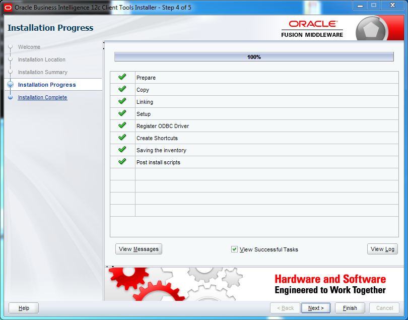 OBIEE 12c Client Tool Installation : progress