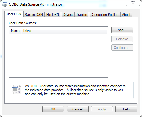 ODBC Data Source creation for OBIEE 12c Client Tool : add