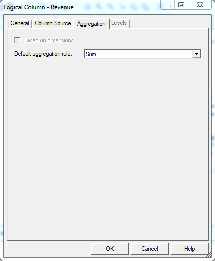 Create Simple Measure into OBIEE Repository: aggregation sum