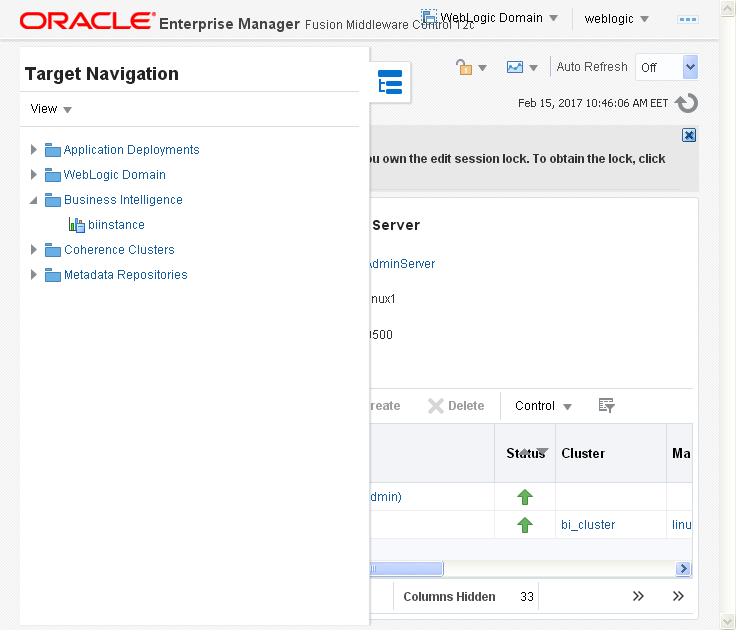 Enable Disable Oracle BI (OBIEE) Server cache: bi instance