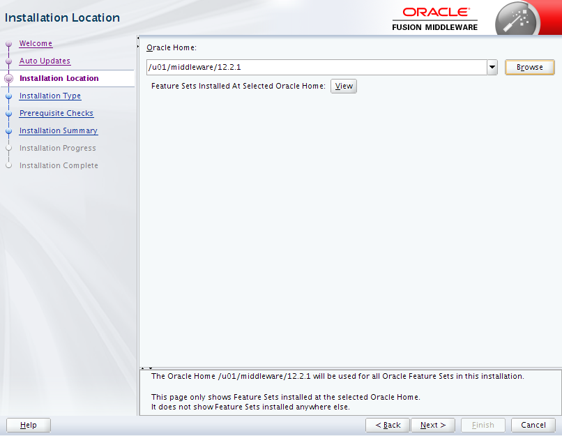 Oracle Business Intelligence 12c Enterprise Edition Installation : location