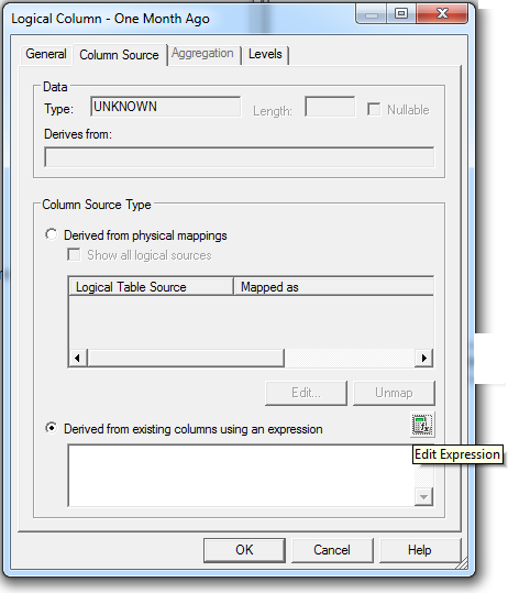Create measure using the AGO function into obiee repository: