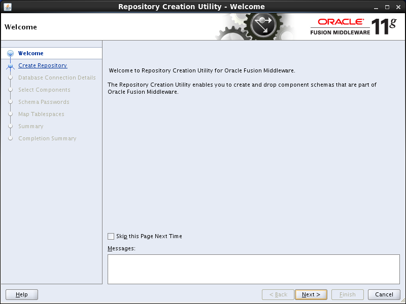 OBIEE 11g installation prerequisites: rcu welcome