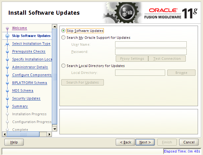 OBIEE 11g installation on Linux: software updates