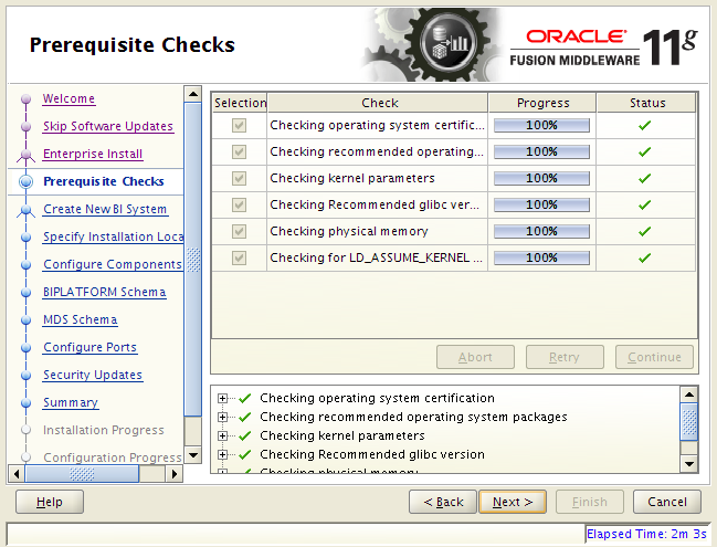 OBIEE 11g installation on Linux: prerequisites