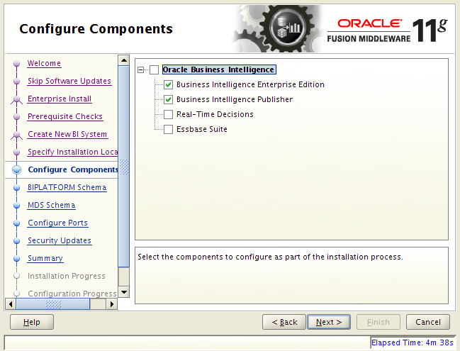 OBIEE 11g installation on Linux: components