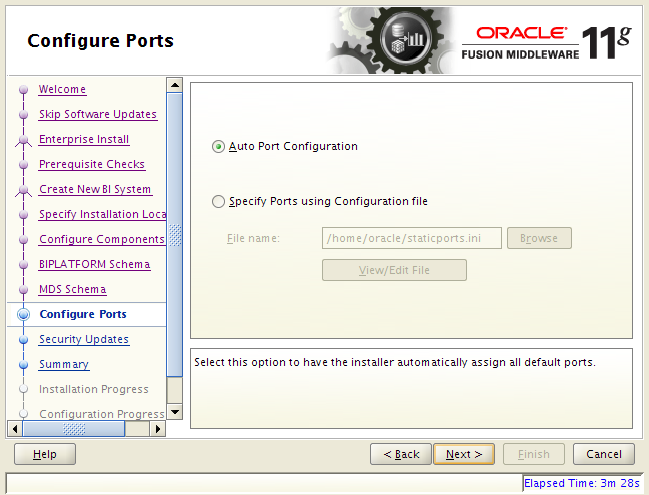 OBIEE 11g installation on Linux: ports