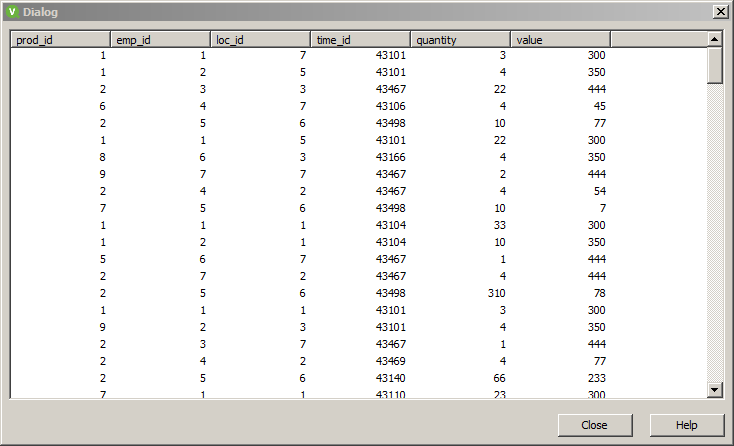 How to import an excel file into QlikView memory: table preview