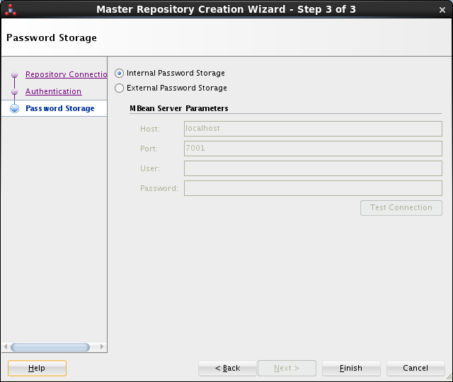 Create ODI Master Repository - ODI Studio 12c: password storage