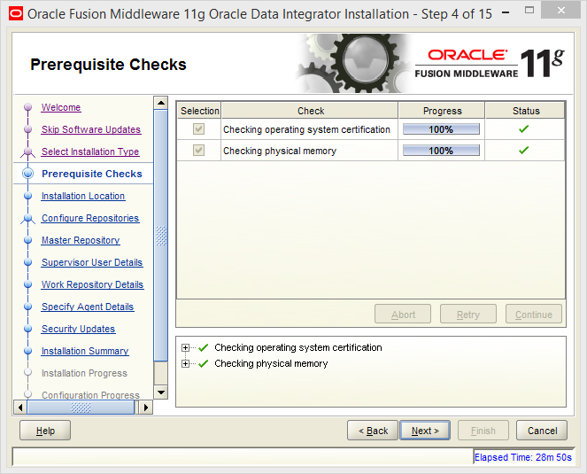 Install and Configure Oracle Data Integrator (ODI) 11g Standalone Agent : prerequisites