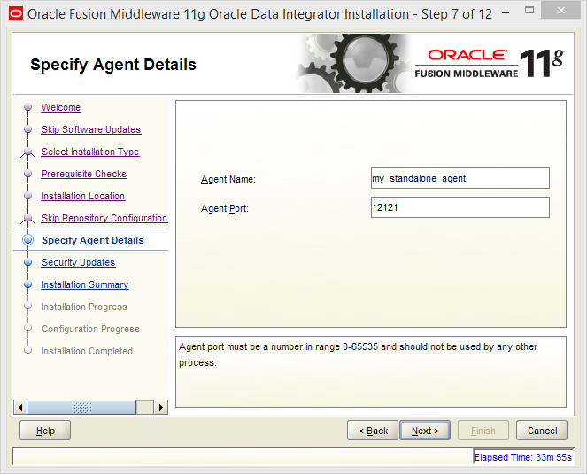 Install and Configure Oracle Data Integrator (ODI) 11g Standalone Agent : odi standalone agent configuration