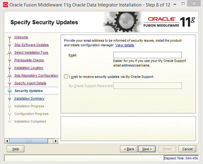 Install and Configure Oracle Data Integrator (ODI) 11g Standalone Agent : security updates