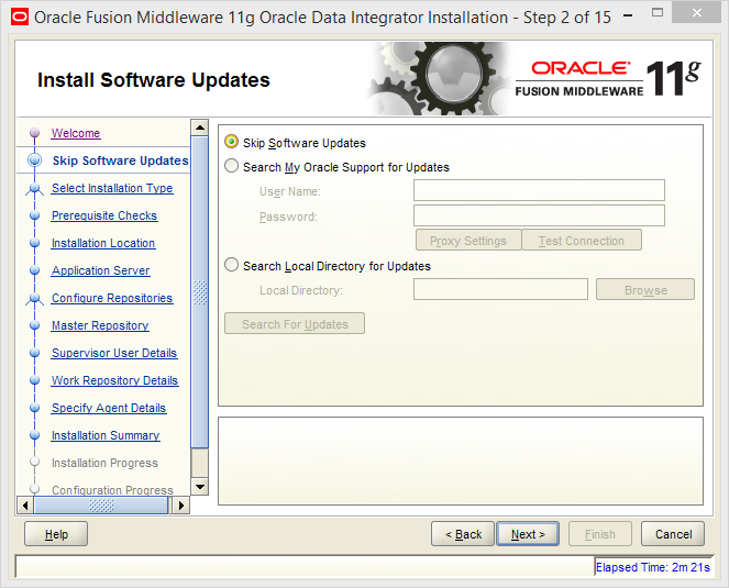 Install Java EE Agent in ODI 11g: software update