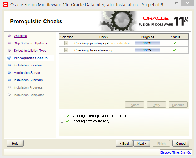 Install Java EE Agent in ODI 11g: prerequisite checks