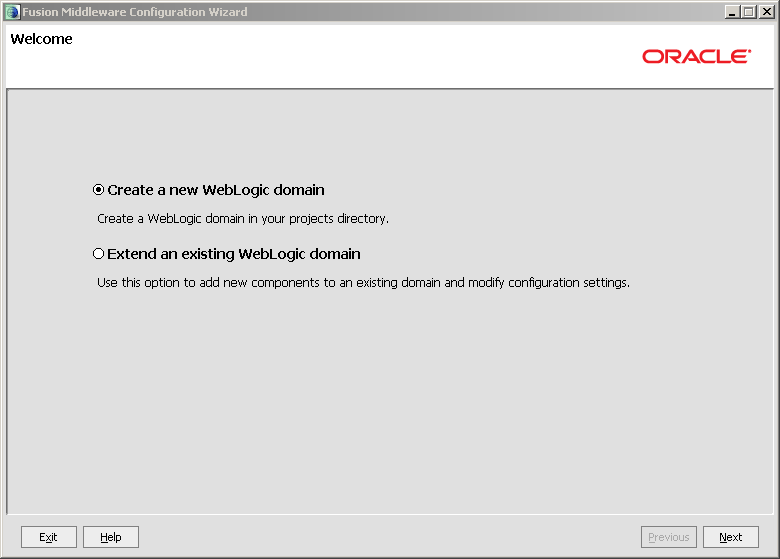 Configure Java EE Agent in ODI 11g: welcome create