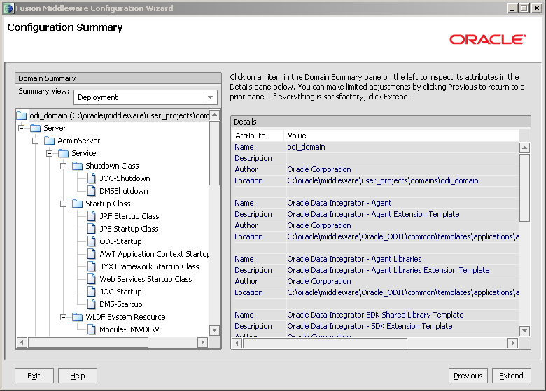 Configure Java EE Agent in ODI 11g: summary extend