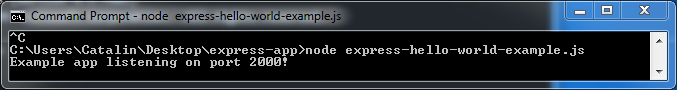 Express framework - hellow world -advantages & example: in console