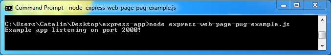 Create web pages in Express and Pug - example: run the code