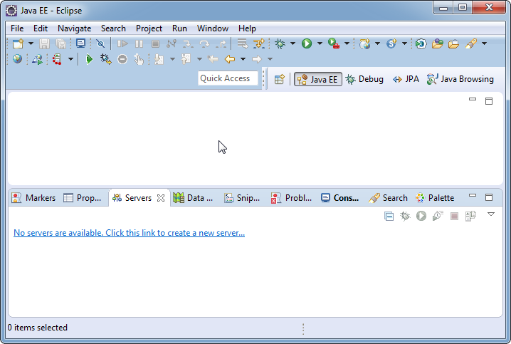 Add weblogic server to Eclipse IDE tool: Eclipse is running