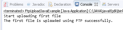 Upload file using FTP Client in Java : successfully