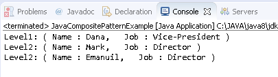 Composite Design Pattern in Java :