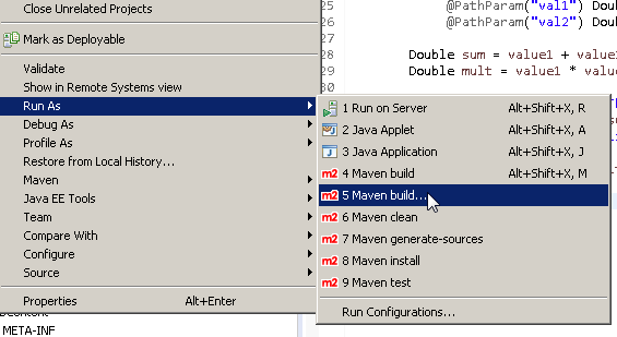Create Java RESTful Web Service (JAX-RS) using Jersey - producing XML : maven build