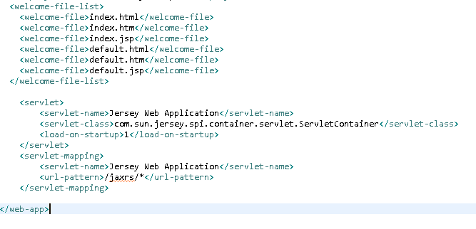 Create Java RESTful Web Service (JAX-RS) using Jersey - producing XML : servlet mapping