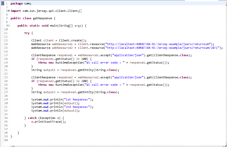 Create Java RESTful Web Service (JAX-RS) Client - using Jersey - consuming JSON : java client