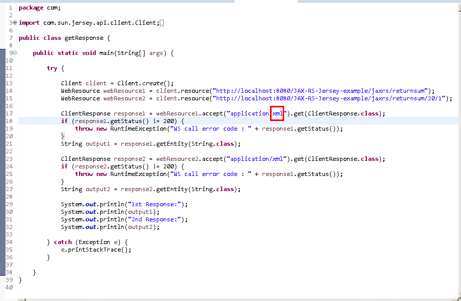 Create Java RESTful Web Service (JAX-RS) Client - using Jersey - consuming XML : java client - code