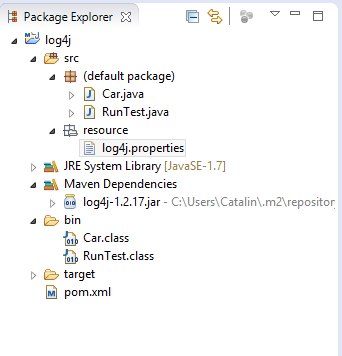 log4j configuration for java: log4j properties - configuration