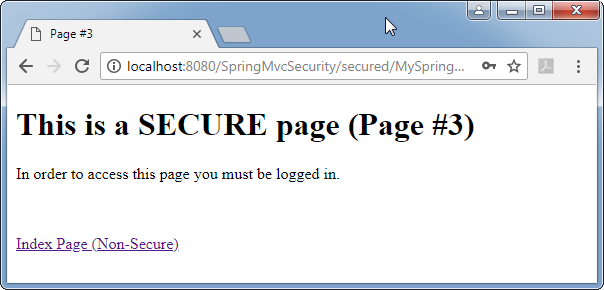 Spring 5 Security - mvc (web) security enforcement: secured page
