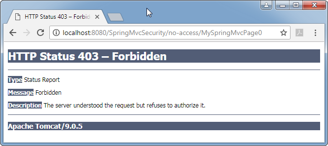 Spring 5 Security - mvc (web) security enforcement: access forbidden