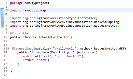 Thymeleaf Hello World Application with Spring: the controller