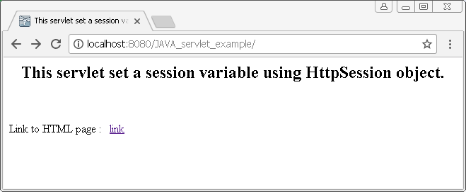 HttpSession object in Java : set session attribute