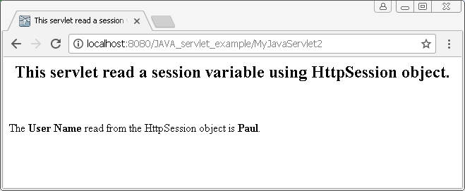 HttpSession object in Java : get session attribute