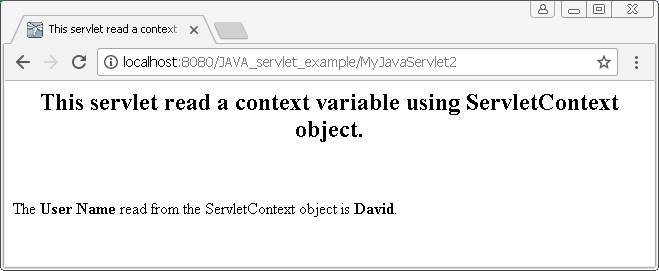 ServletContext object in Java : get attribute