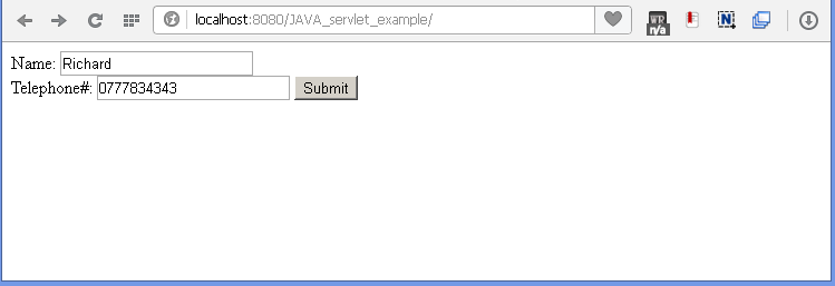 Java Filter for logging example : html page